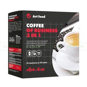 """Кафе """"Бизнес 3 в 1"""", 10 пакета по 20г"""